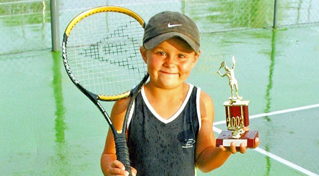A young Ash Barty - so cute
