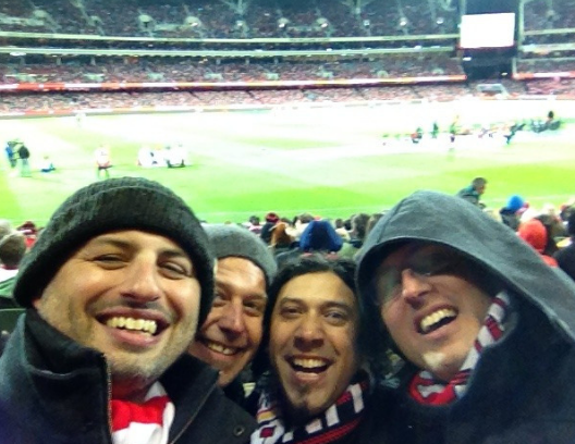 With my crew at the Liverpool FC exhibition match at Adelaide Oval a few years ago