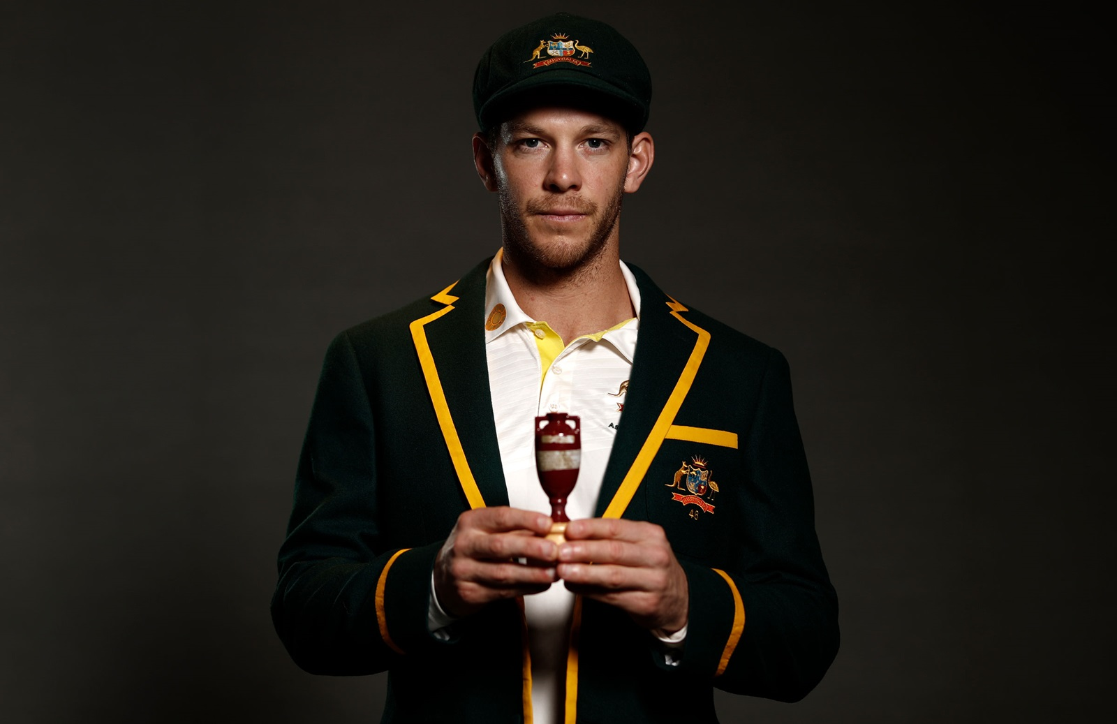 Click on the image above of Tim Paine with 'The Ashes' for the full press conference details of both captains
