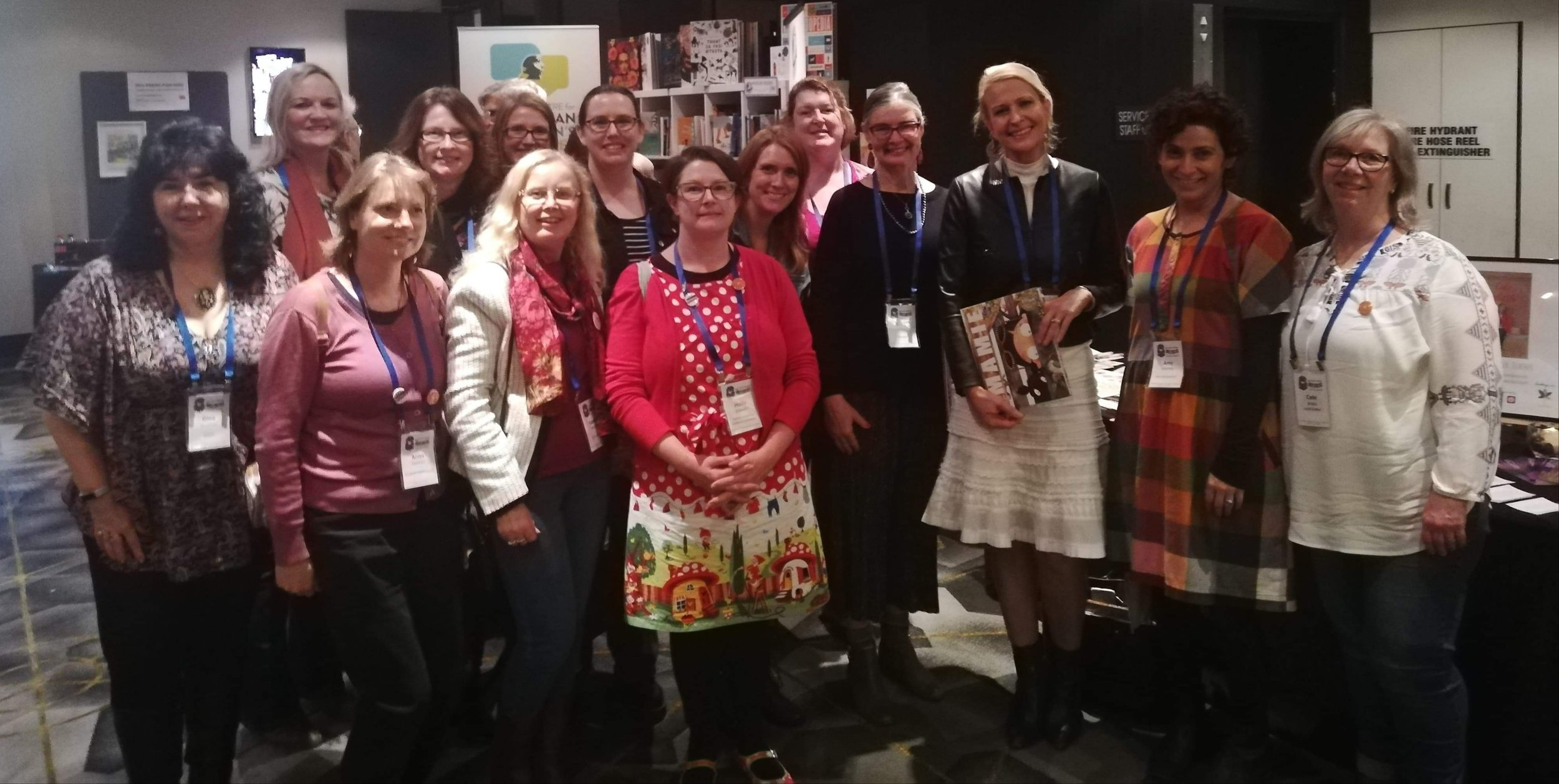 A fabulous flock of 'Ducks' quacking madly at the CBCA conference.
