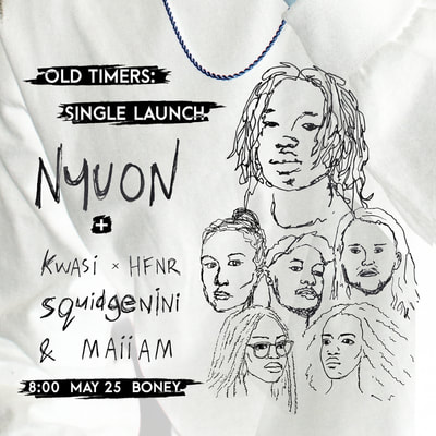 Nyuon: Flyer for single launch 'old timers' by Nyuon