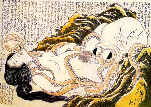 "Hokusai  ""The Dream of The Fisherman's Wife""  1814"