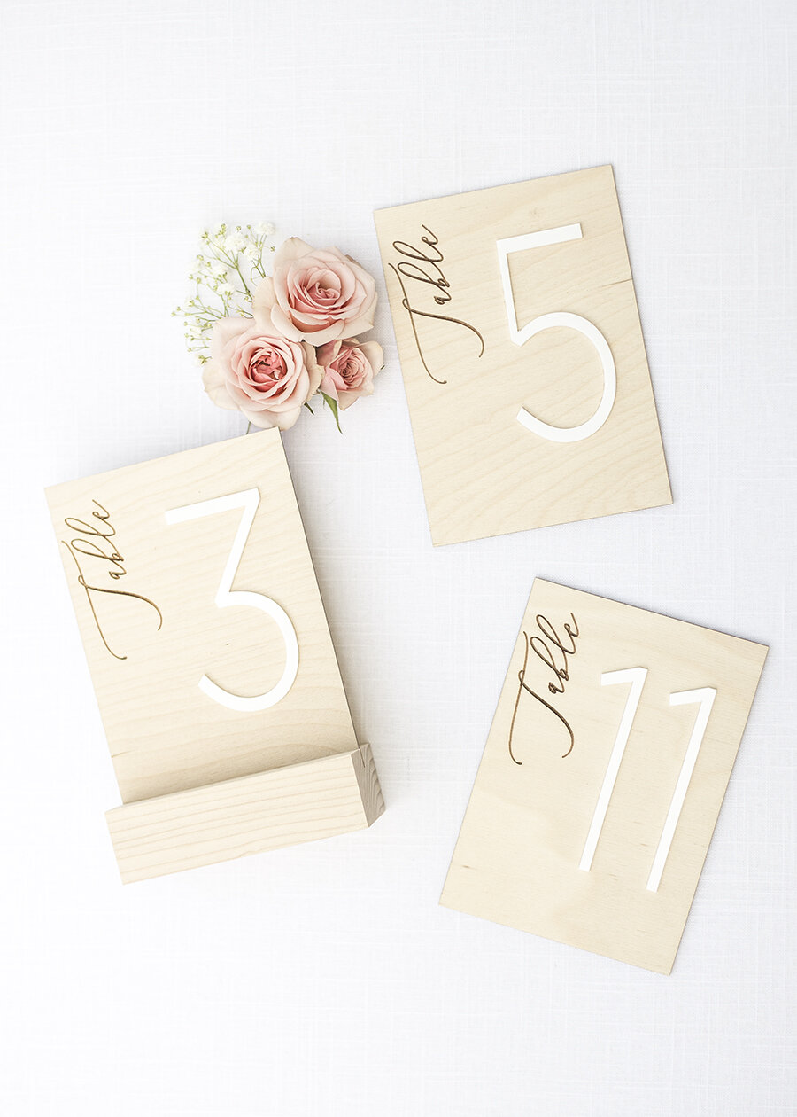 Table Number with Stand - Delovely Details - Wedding Table Numbers