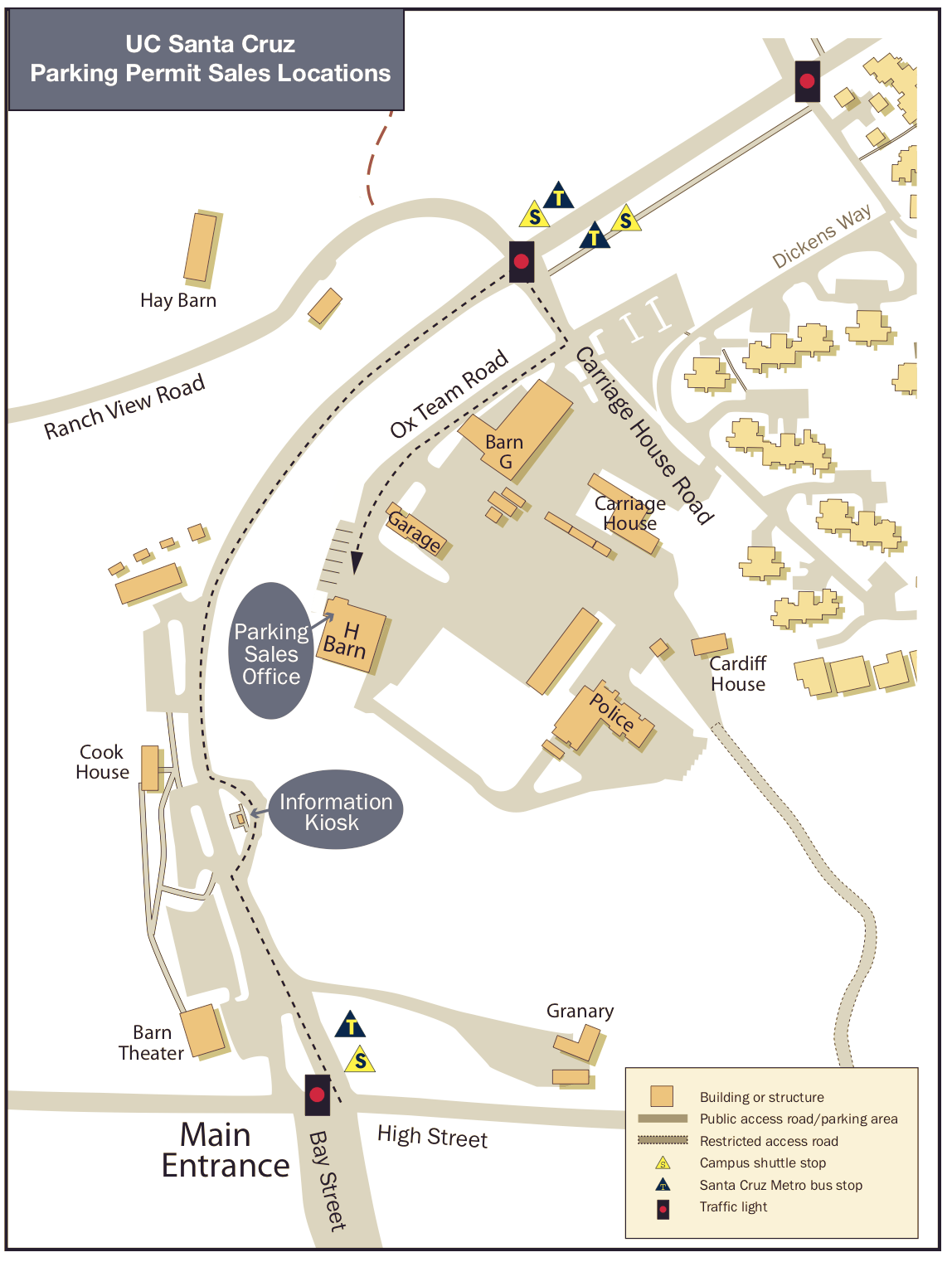 UC Santa Cruz Parking Permit Sales Locations