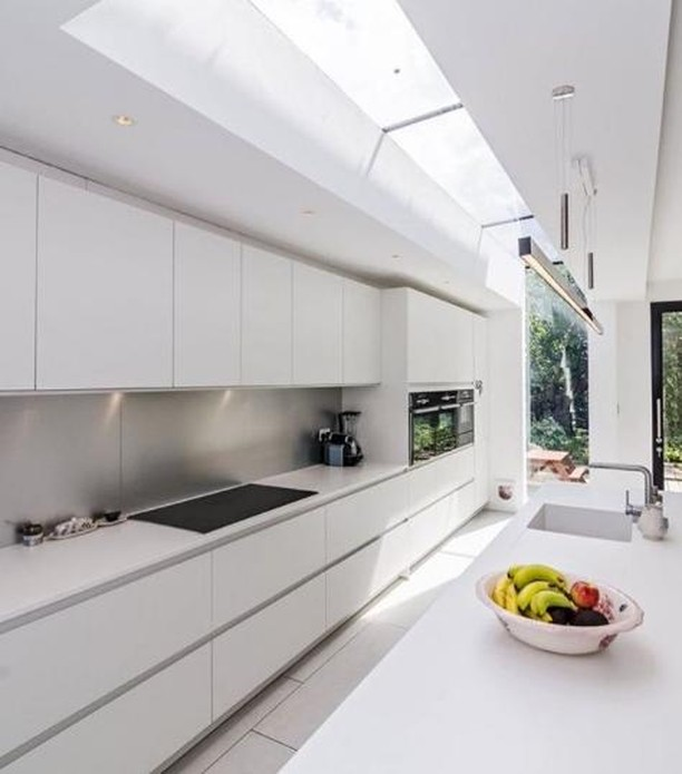 When preparing your kitchen for buyers on inspection day, clear the benchtops and store away the appliances. For more kitchen styling tips, head to our Facebook page and check out the latest article. Kitchen crushes via @minimalsource
