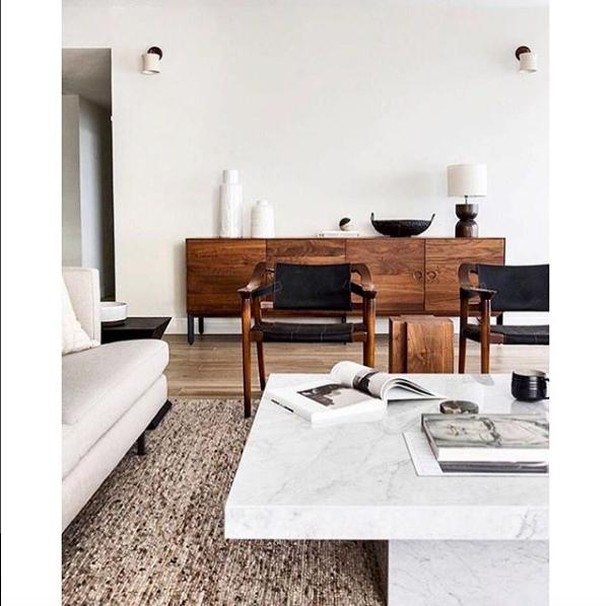 "We can help make your empty property feel like ""home"" again for potential buyers with our extensive range of designer furniture on hand. Want to know more about property staging? Head to our website to read more on all our services. Cosy neutral vibes via @thegreycollective"