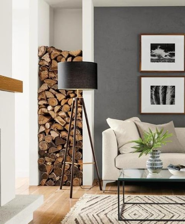 Adding a floor lamp in a corner can give an element of height to a room and also adds mood lighting on those overcast winter afternoons. If you need help putting the spotlight on your property, @thestylingco_ can ensure it shines bright with their property staging expertise. Image credit @roomandboard