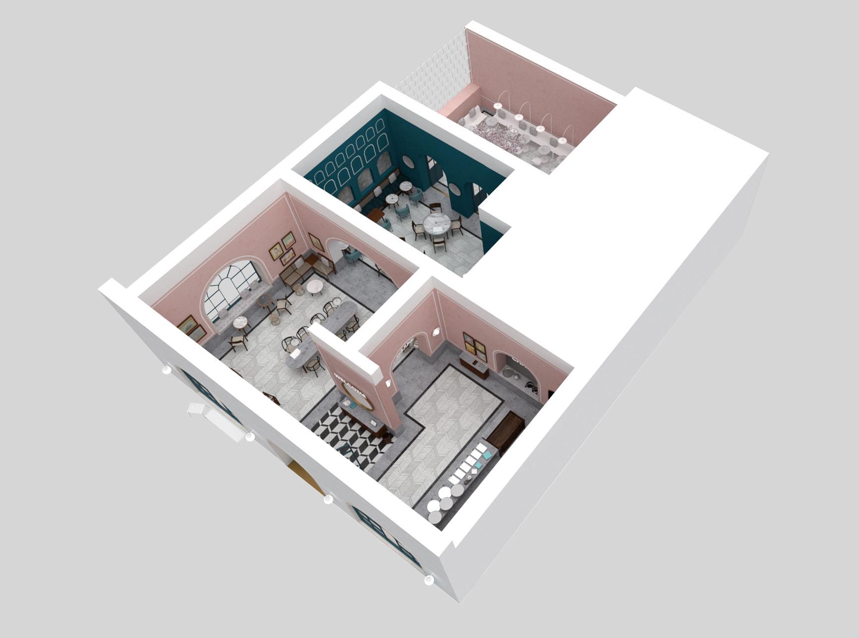 lunarlunar_interior_design_cafe_bakery_restaurant_pistachio_rose_AXO View 2.jpg