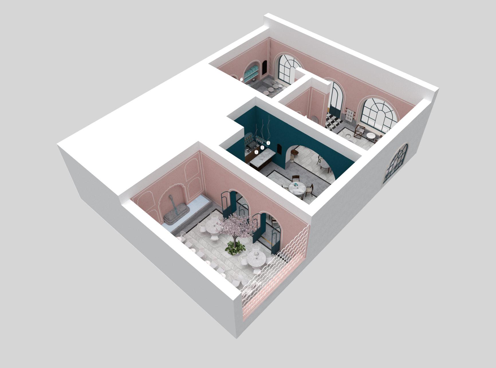 lunarlunar_interior_design_cafe_bakery_restaurant_pistachio_rose_AXO View 1.jpg