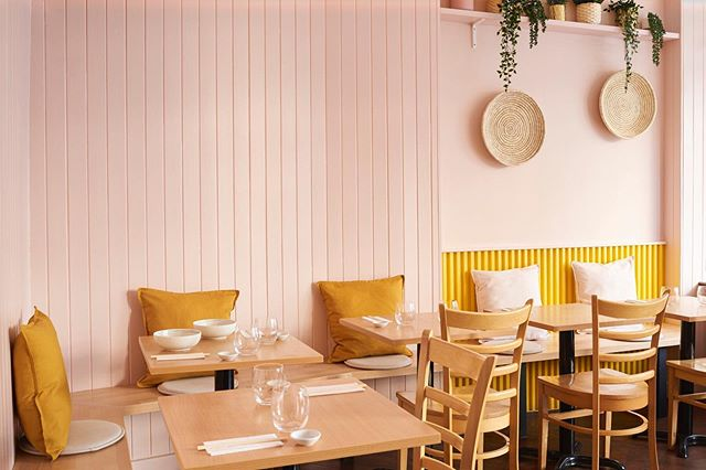 Restaurant Interior by @lunarlunarstudio  Lunar Lunar converted this former take-away site into an intimate restaurant space, maximising covers and designing an interior that reflected the hospitality offer and vibrancy of the local area. For more on this project follow the link in our bio. Photography by @timjphoto