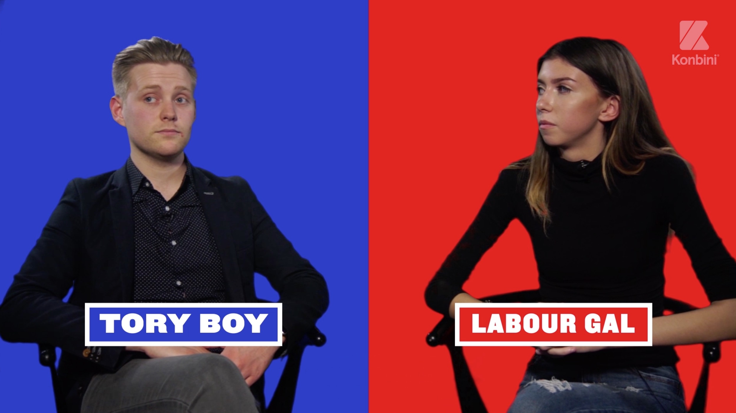 Tory Labour video series Konbini UK