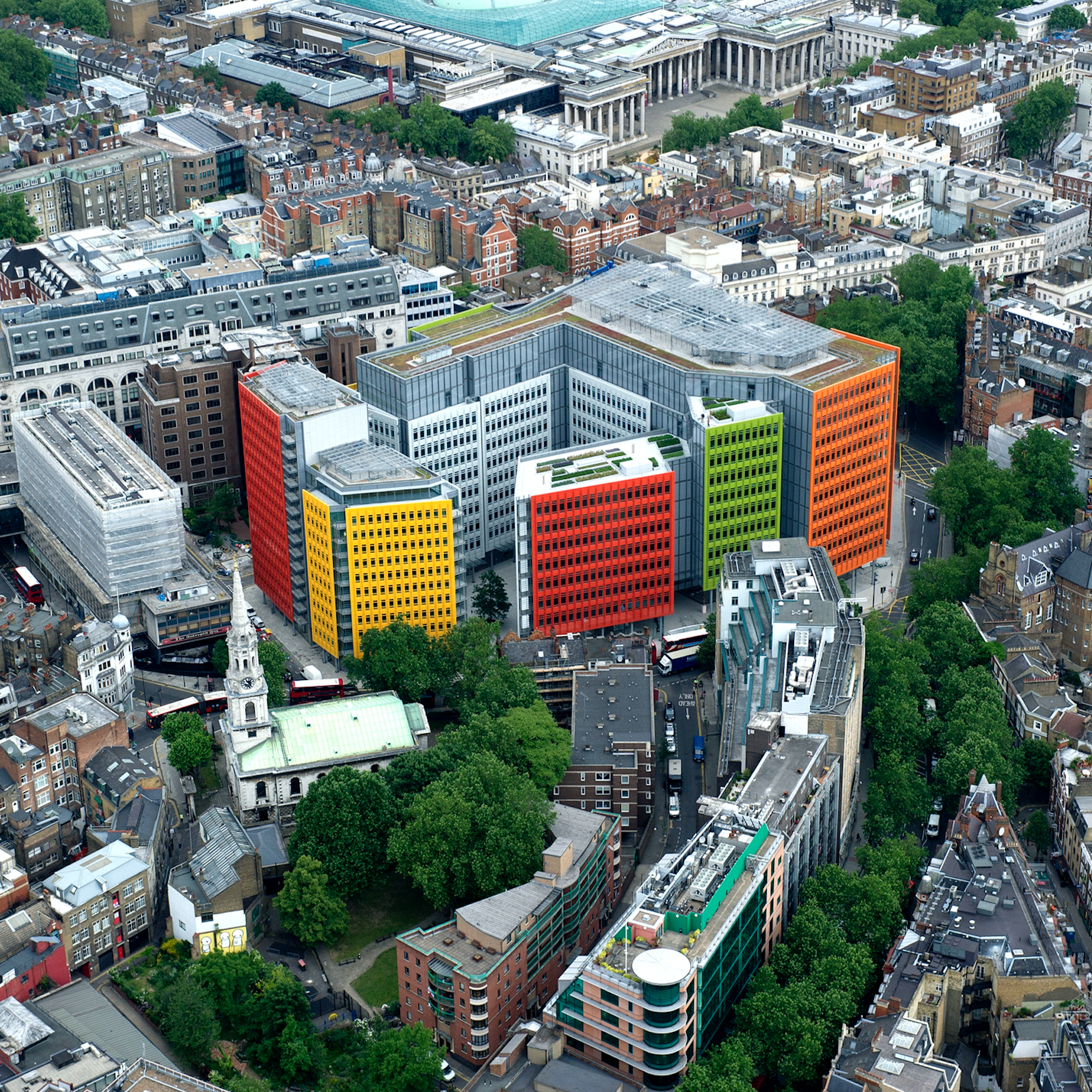 Central St Giles, London, Renzo Piano Building Workshop