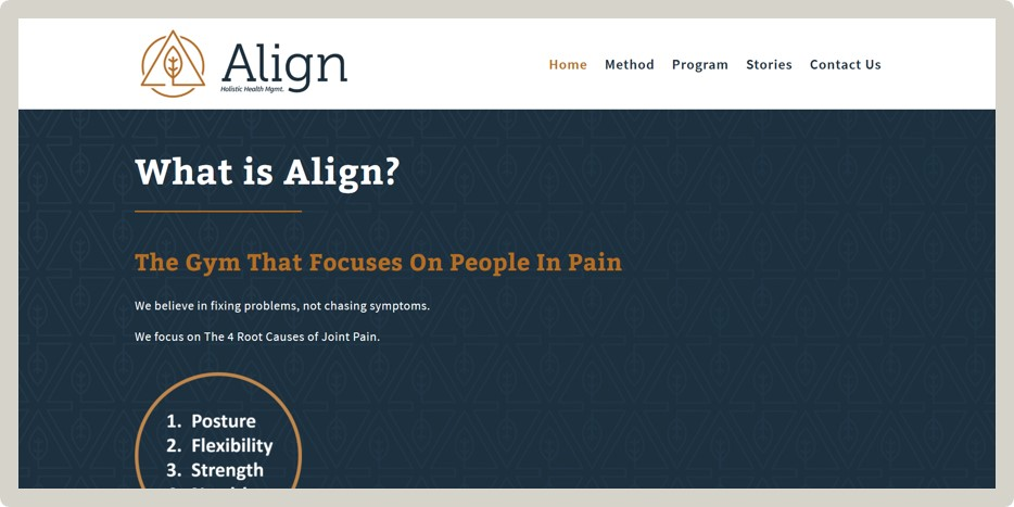 "Experience Align - ""Such a great experience. Couldn't be happier. Fast. Great communication. Great website. Amazing, Ali!""— Matthew Lister / Trainer"