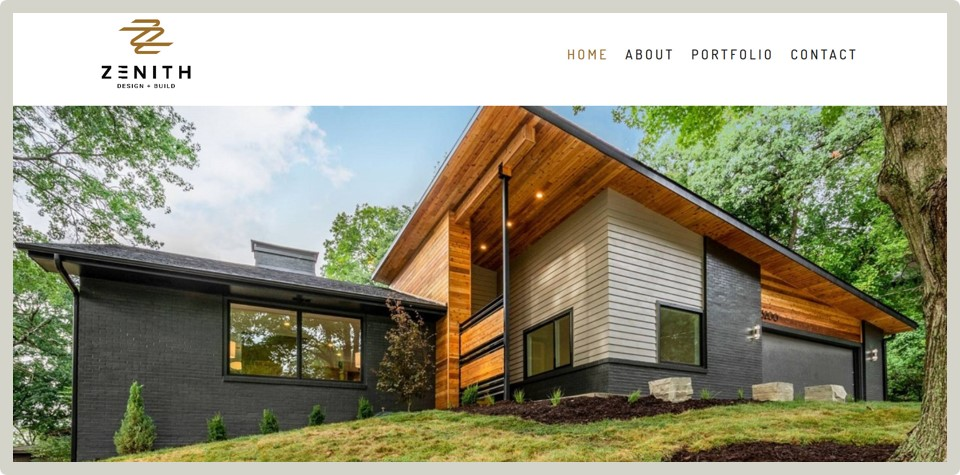"Zenith Design + Build - ""It was an awesome experience working with Ali. I highly recommend her for proefessional and beautiful website design.""— Nicholas Donlin / Designer & Builder"
