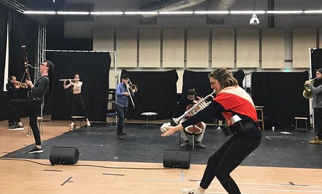 From rehearsals with Pierre Audi last week. Next time ORCHESTER-FINALISTEN rehearses, we'll be in the Gashouder! See you soon @hollandfestival and @nationaleoperaballet !
