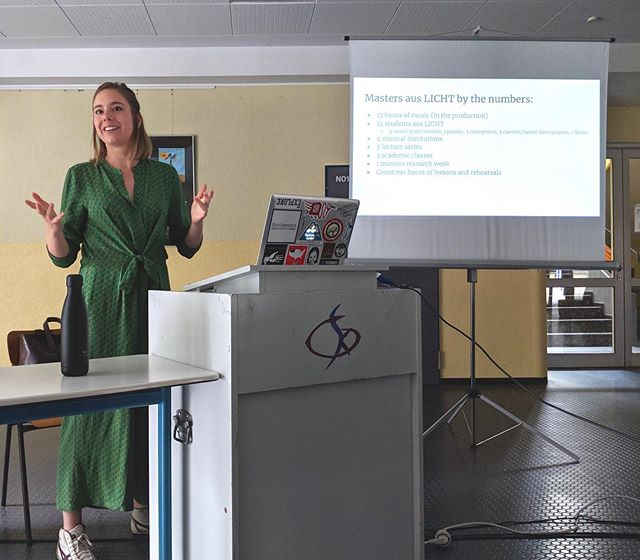 """Incredibly thankful to have had the opportunity to lecture at the Stockhausen Courses Kürten a couple weeks ago. If you're curious about what I had to say, check out the """"Writing"""" section on my website! 👋🏻👋🏻"""