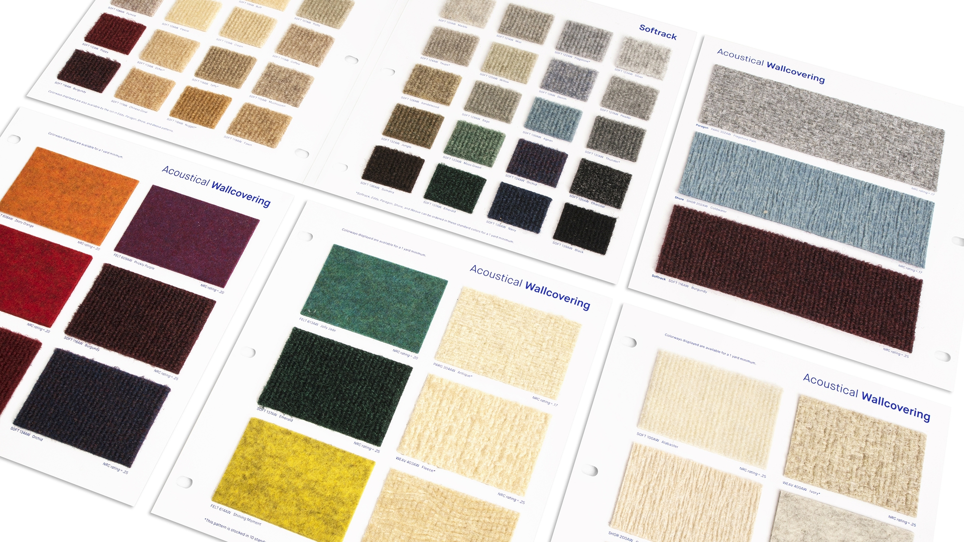 Wolf-Gordon's wide range of swatch books are one of their most important sales tools.