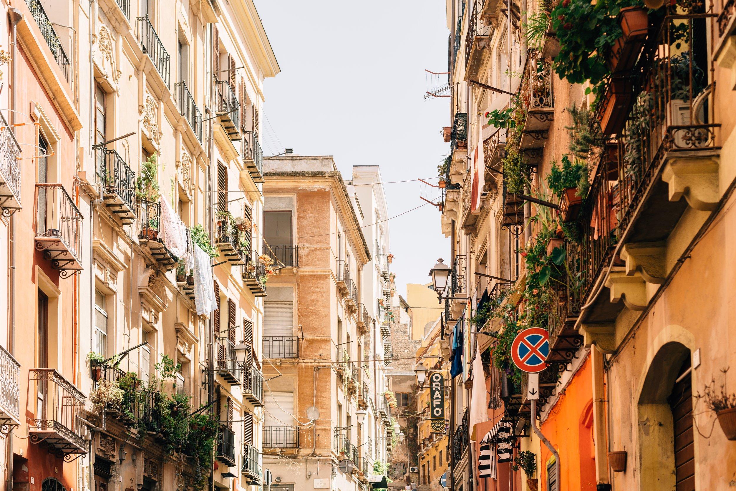 Cagliari - Hauptstadt Sardiniens. Klein-Rom auf einer Insel. Schön da.