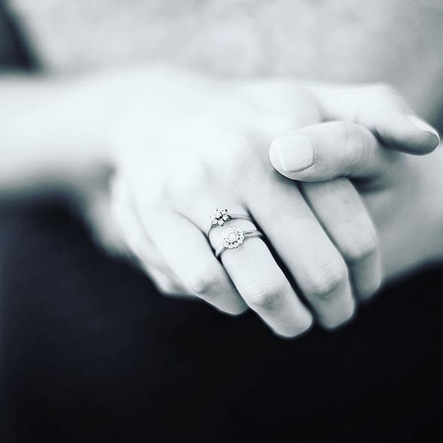 """I've been wearing this ring for 18 months now, and it's been joined by my wedding band for another nine. In three months time it'll be joined by an eternity band- but I think it's always going to remain my favorite.   I love this symbol of dedication, commitment and of course, love. It still makes me smile whenever I glance at it and yes I have totally perfected the art of angling my hand just so, so that it catches the light (the other ring pictured here was actually my sisters """"first"""" wedding ring (she's had two ceremonies with her husband), and was the """"something old"""" that she lent me for the day- don't they look awesome together? Mines the one on the bottom!).   #dubaibloggers #dubai #bloggers ##discoverunder10k #mydubai #blogger #discoverunder5k #bloggersofinstagram #bloglife #bloggerslife #ontheblog #fblogger #bloggerstyle #stylegram #whowhatwear #bblog #beautycommunity #bblogger #beautylover #bloggershare #blogandbeyond #reallifeandstyle"""