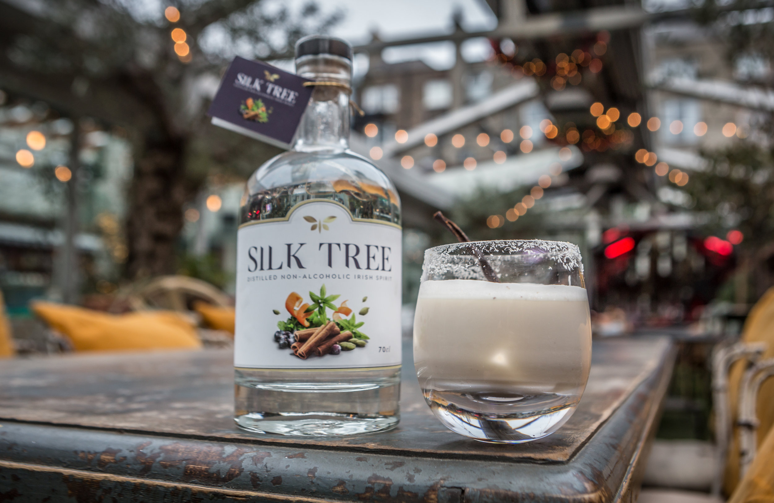 Smooth as Silk cocktail | Silk Tree Irish non alcoholic spirit