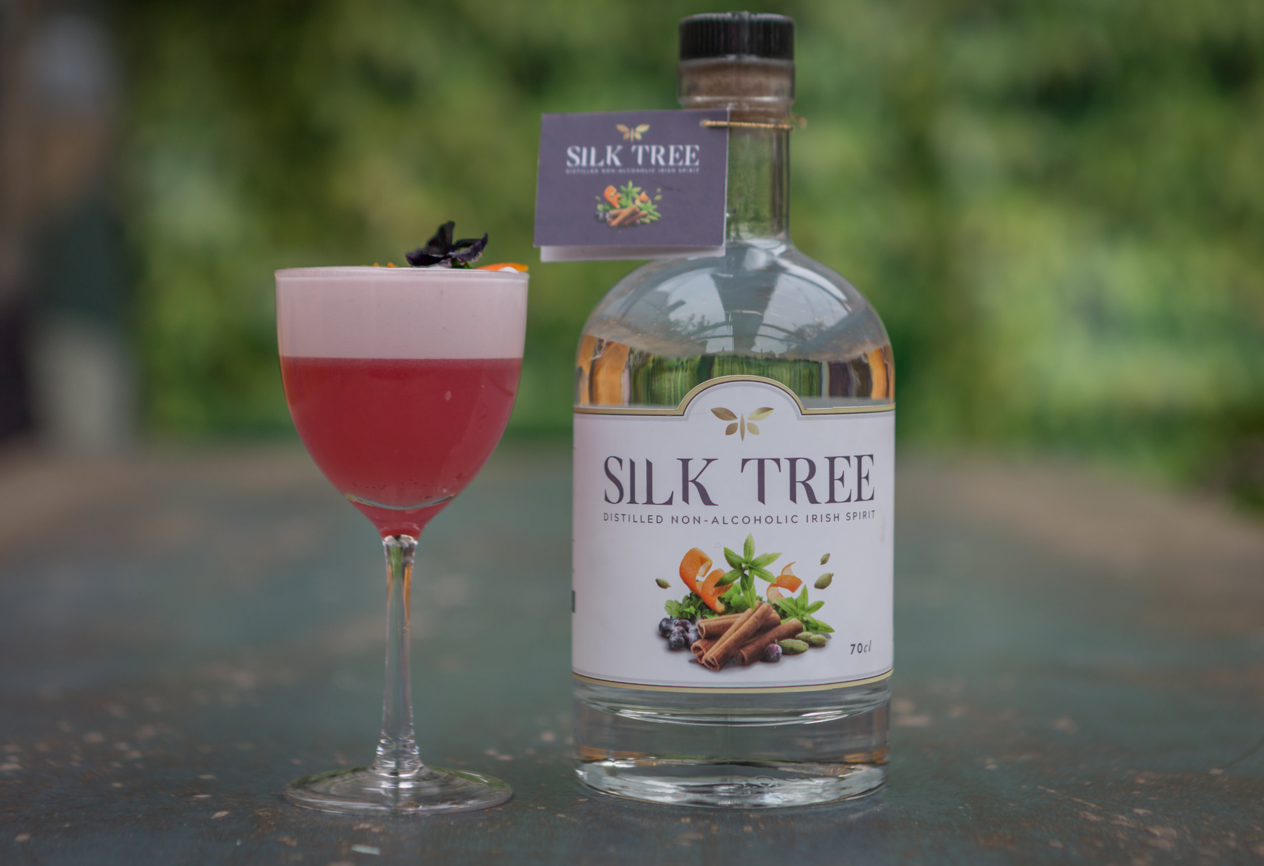 Silk Tree Sour cocktail | Irish non alcoholic spirit