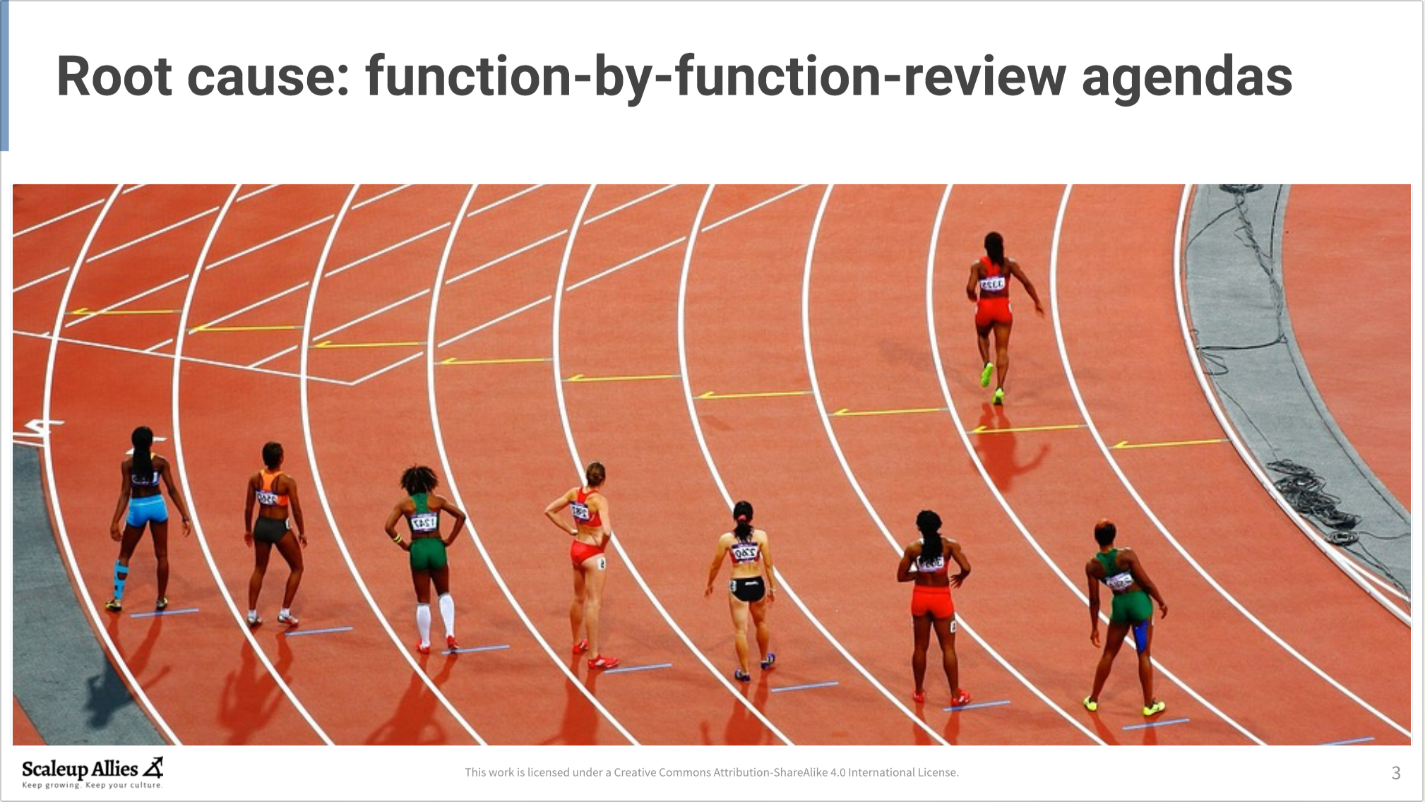Root Cause: function-by-function-review agendas