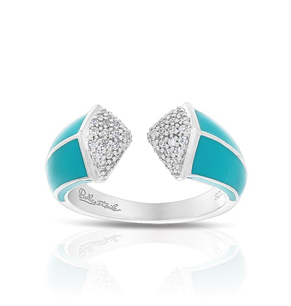 Pyramid Turquoise Ring