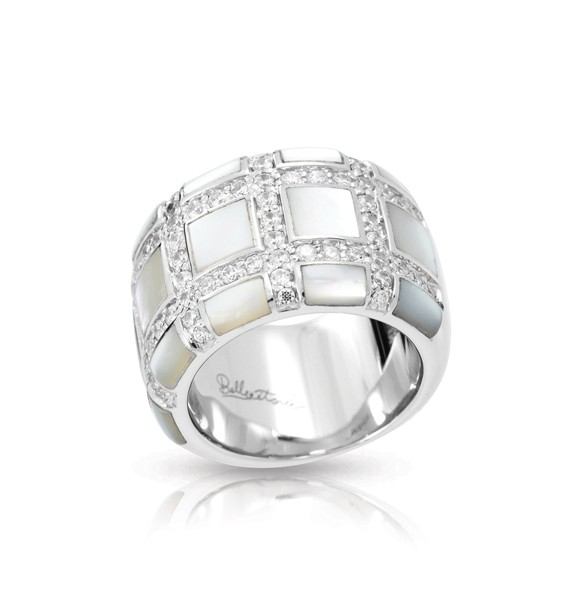 Regal White Mother-of-Pearl Ring
