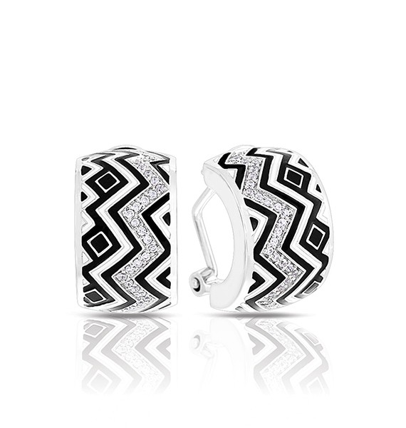 Tempo Black and White Earrings