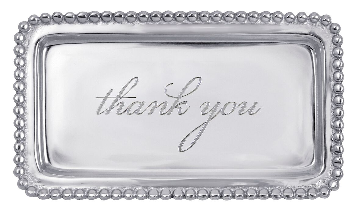 Thank You Beaded Tray