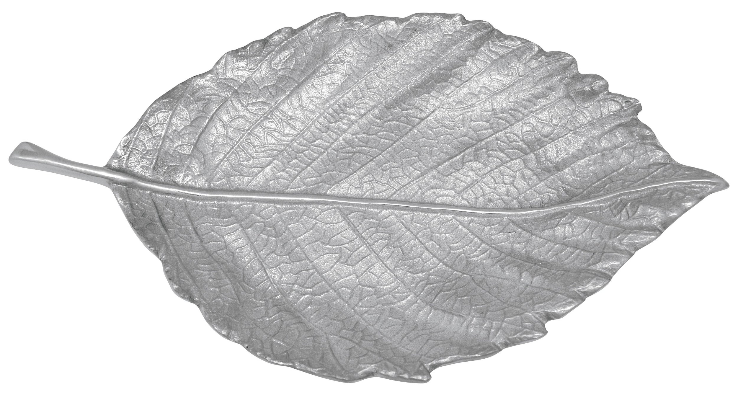 Satin Medium Leaf Server