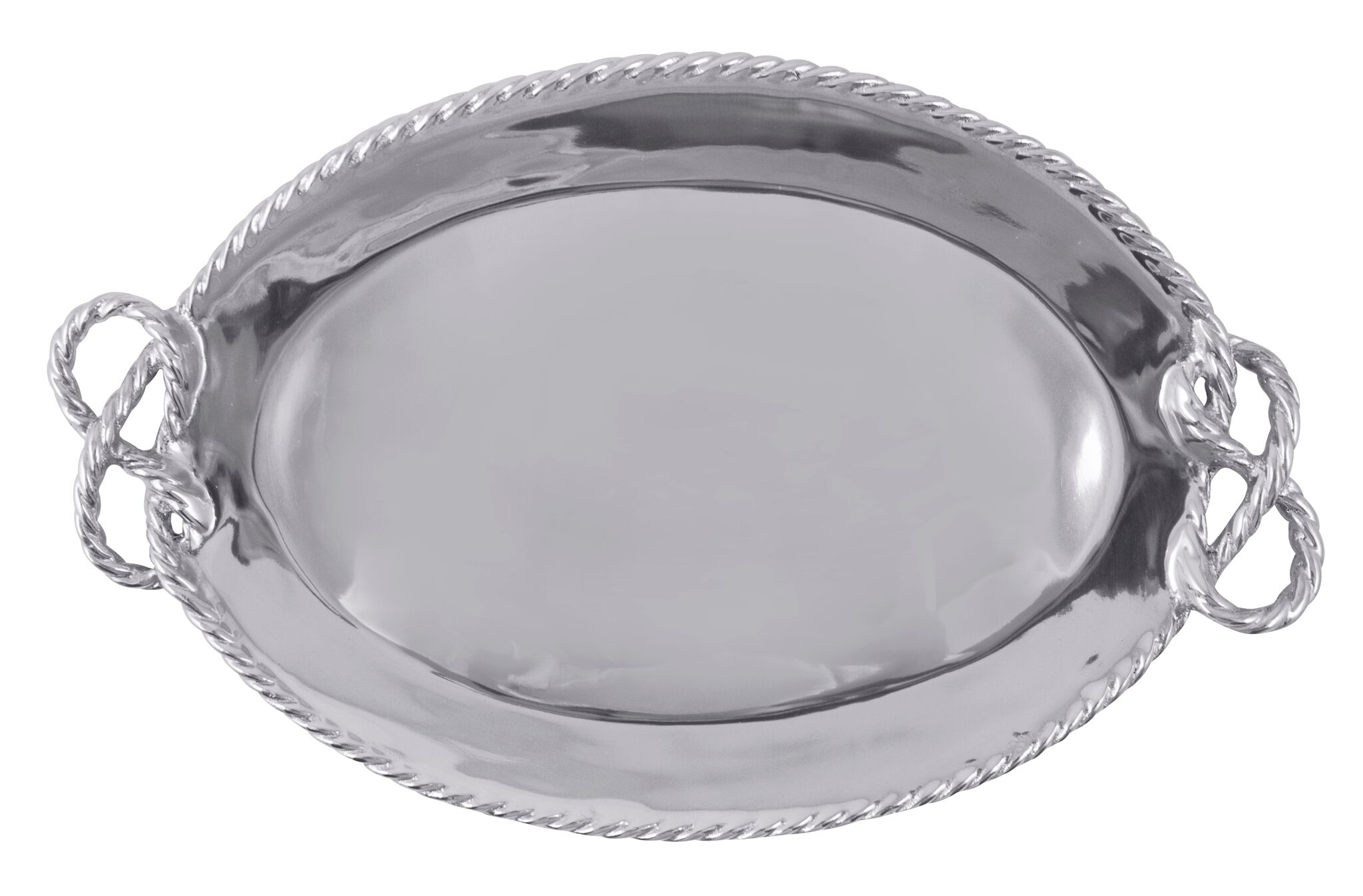 Anchor Rope Oval Serving Tray