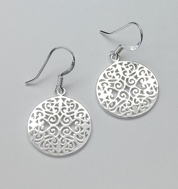 Southern Gates Small Round Original Scroll Earrings