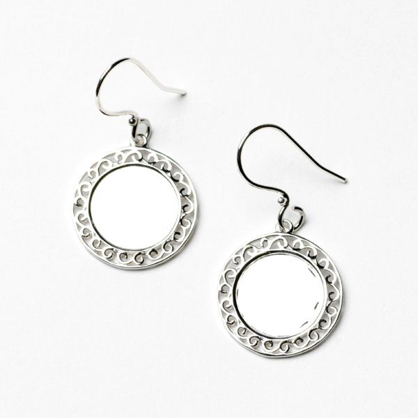 Southern Gates Round Engravable Earrings