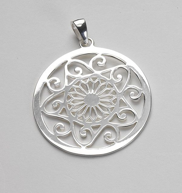 Southern Gates Large Cathedral and Scroll Pendant