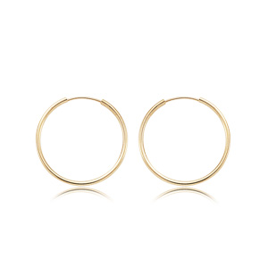 1.5x20 mm Endless Hoop Earrings