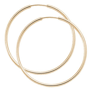 1.5x40 mm Endless Hoop Earrings