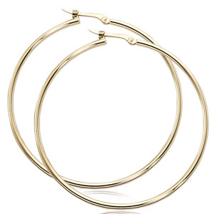 1.5x40 mm Hinged Hoop Earrings
