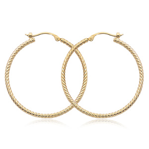 1.8x30 mm Twist Tubing Hoop Earrings