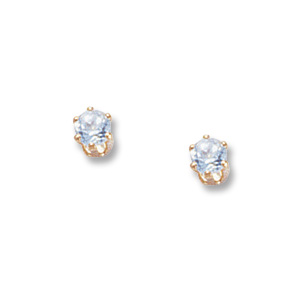 3 mm Sky Blue Topaz Earrings