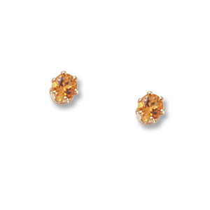 3 mm Citrine Earrings