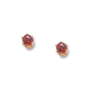 3 mm Garnet Earrings