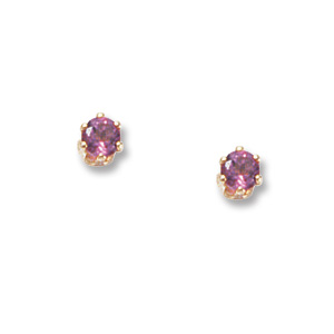 3 mm Pink Tourmaline Earrings
