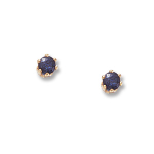 3 mm Sapphire Earrings