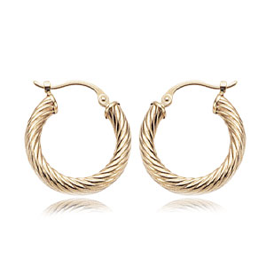 3x19 mm Twist Tube Hoop Earrings