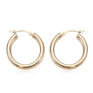 3x20 mm Hoop Earrings