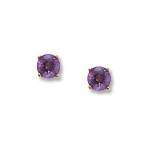 4 mm Amethyst Earrings