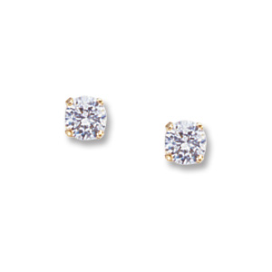 4 mm Cubic Zirconia Earrings