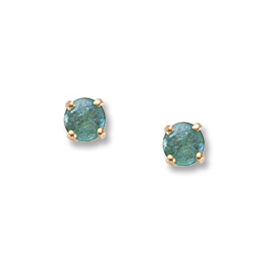 4 mm Emerald Earrings