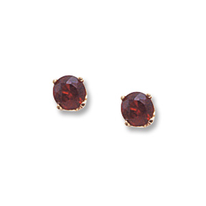 4 mm Garnet Earrings